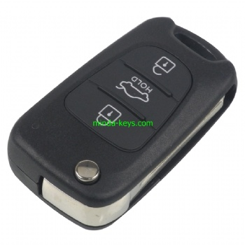 HY-228 Hyundai Flip Remote Shell 3 Button TOY48 Blade HOLD