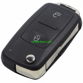 VW-208 VW Flip Remote Shell 2 Button HU66 Blade