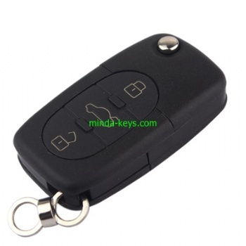 VW-252 VW Flip Remote Shell for Golf-Polo HU66 3 Button