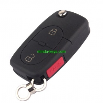 VW-253 VW Flip Remote Shell for Golf-Polo HU66 3 Button