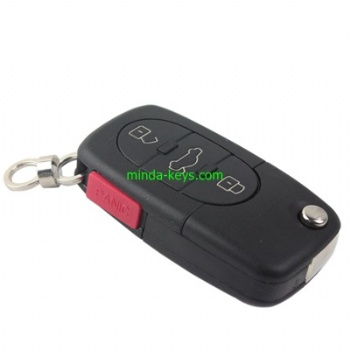 VW-254 VW Flip Remote Shell for Golf-Polo HU66 4 Button