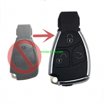 MB-247 New Type Mercedes Benz Smart Remote Shell 3 Button with emergence key