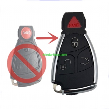 MB-248 New Type Mercedes Benz Smart Remote Shell 3+1 Button with emergence key