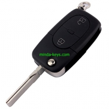 AU-203+205 Audi Flip Remote Shell HU66 3 Button