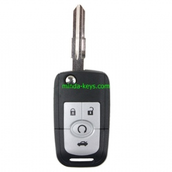 BU-232 Buick Excelle Flip Remote Shell 4 button YM28 Blade