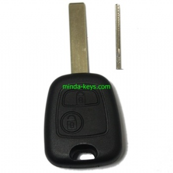 PE-202 Peugeot-Citroen Remote Shell 2 Button with HU83 Blade