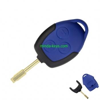 FO-207+205 3 Buttons Transit Connect Set Remote Key Shell For Ford Transit Good Quality Blue Case Cover New Styling