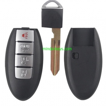 NI-232 Nissan Prox Remote Shell 4 Button with NI06P Emergency Key