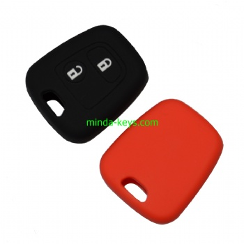 PESC-1 Silicone Car Key Case Cover For Peugeot Citroen Prox Remote Shell