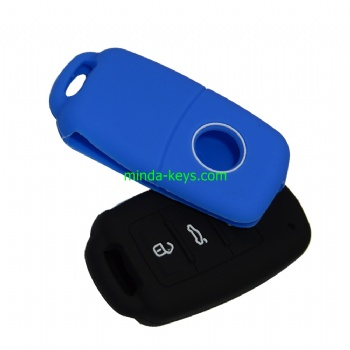 VWSC-1 Silicone Car Key Case Cover For VW Remote Shell