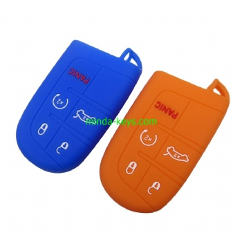 CHRSC-2 Silicone Car Key Case Cover For Prox Chrysler Remote Shell